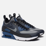 Мужские кроссовки Nike Air Max 90 Ultra Mid Winter Obsidian/Black/Gym Blue/Cool Grey фото- 1
