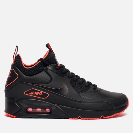 Мужские кроссовки Nike Air Max 90 Ultra Mid Winter SE Black/Black/Total Crimson/Cool Grey