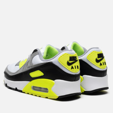 Мужские кроссовки Nike Air Max 90 White/Particle Grey/Volt/Black фото- 2