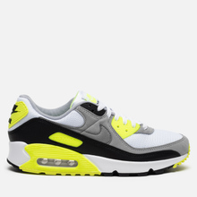 Мужские кроссовки Nike Air Max 90 White/Particle Grey/Volt/Black фото- 3