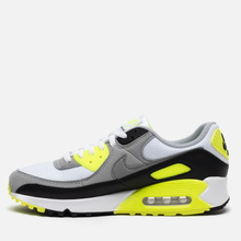 Мужские кроссовки Nike Air Max 90 White/Particle Grey/Volt/Black фото- 5