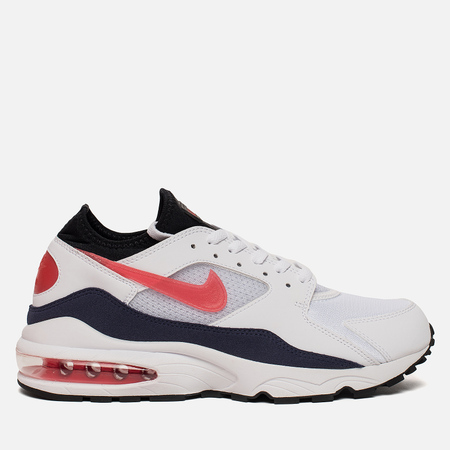 Мужские кроссовки Nike Air Max 93 White/Habanero Red/Neutral Indigo/Black