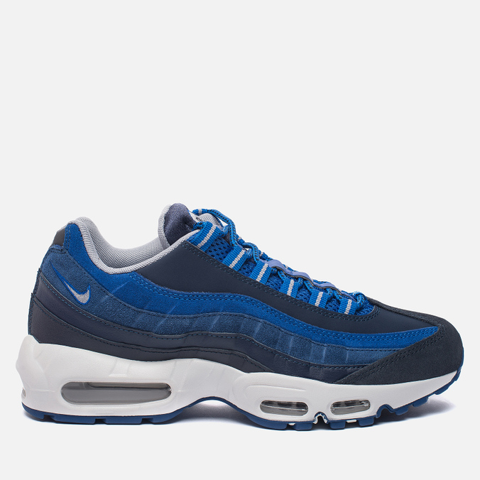 Мужские кроссовки Nike Air Max 95 Essential Dark Obsidian/Hyper Cobalt/Coastal Blue/Wolf Grey