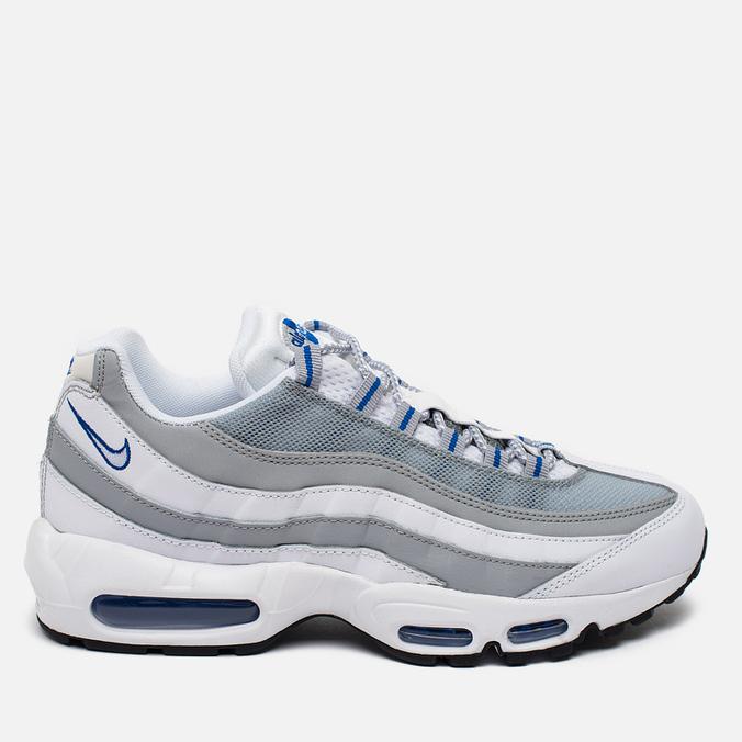 Nike Air Max 95 Essential Men's Sneakers White/Pure Platinum/Hyper Cobalt