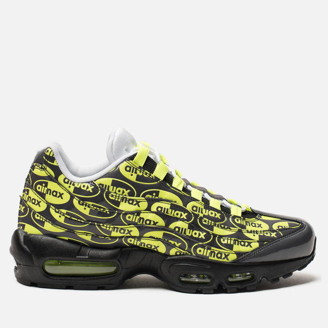 6719ee5c Мужские кроссовки Nike Air Max 95 Premium Black/Volt/Ash/White ...