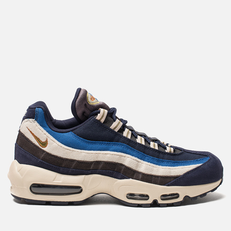 Мужские кроссовки Nike Air Max 95 Premium Blackened Blue/Camper Green/Monarch