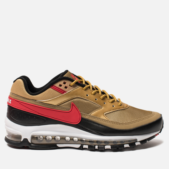 Мужские кроссовки Nike Air Max 97 BW Metallic Gold University  Red White Black ... 2a90c5e3088