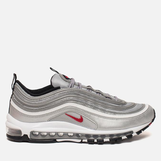 Мужские кроссовки Nike Air Max 97 OG QS Metallic Silver Varsity Red White   ... f5dcb9cee6a
