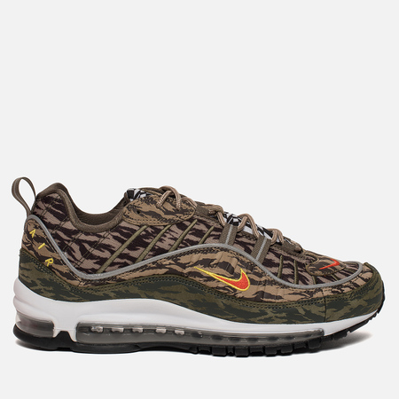 Мужские кроссовки Nike Air Max 98 All Over Print Khaki/Team Orange/Medium Olive