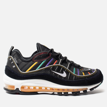 Мужские кроссовки Nike Air Max 98 Premium Black/Flash Crimson/Kinetic Green