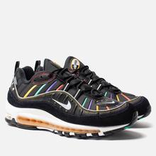 Мужские кроссовки Nike Air Max 98 Premium Black/Flash Crimson/Kinetic Green фото- 0