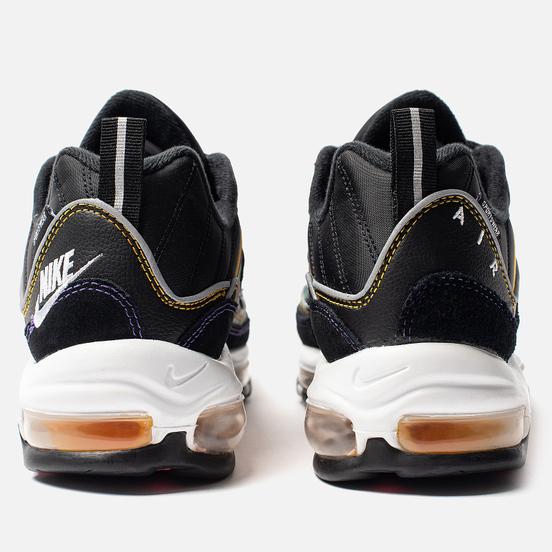 Мужские кроссовки Nike Air Max 98 Premium Black/Flash Crimson/Kinetic Green