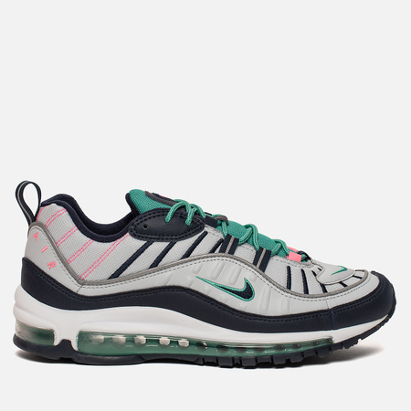 Мужские кроссовки Nike Air Max 98 Pure Platinum/Obsidian/Kinetic Green