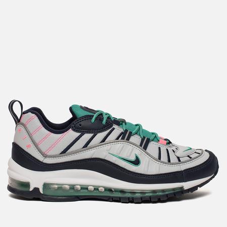 Мужские кроссовки Nike Air Max 98 Pure Platinum/Obsidian/Kinetic Green