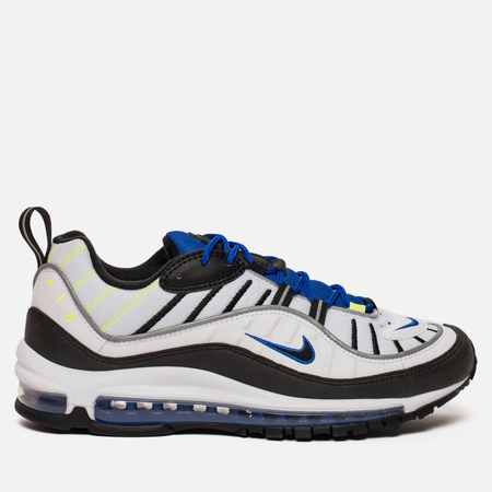 Мужские кроссовки Nike Air Max 98 White/Black/Racer Blue/Volt