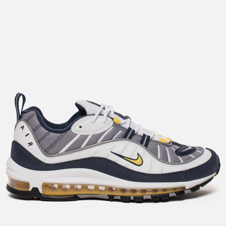 Мужские кроссовки Nike Air Max 98 White/Tour Yellow/Midnight Navy