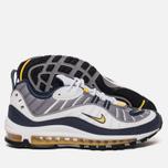 Мужские кроссовки Nike Air Max 98 White/Tour Yellow/Midnight Navy фото- 1