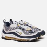 Мужские кроссовки Nike Air Max 98 White/Tour Yellow/Midnight Navy фото- 2