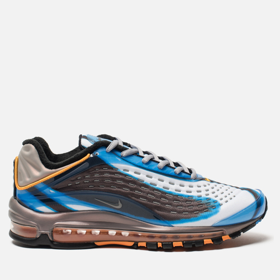 Мужские кроссовки Nike Air Max Deluxe Photo Blue/Wolf Grey/Orange Peel/Black