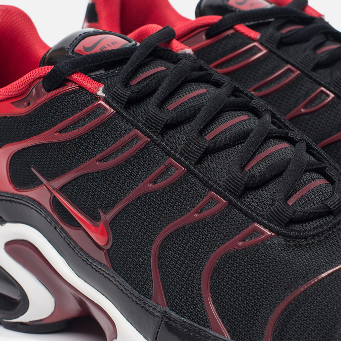 dad40290b841 Мужские кроссовки Nike Air Max Plus Black University Red Team Red White