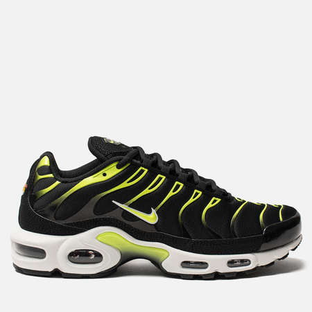 Мужские кроссовки Nike Air Max Plus Black/White/Platinum Tint/Volt