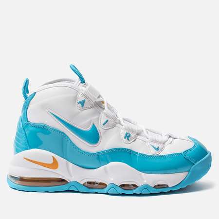 Мужские кроссовки Nike Air Max Uptempo 95 White/Blue Fury/Canyon Gold