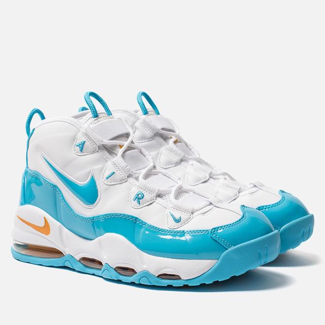 Мужские кроссовки Nike Air Max Uptempo 95 White/Blue Fury/Canyon Gold