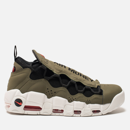 Мужские кроссовки Nike Air More Money Olive/Black/Habanero Red