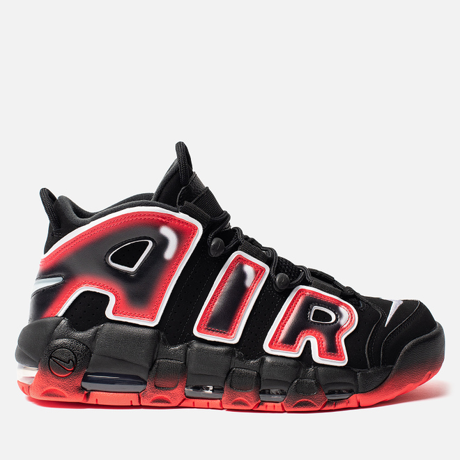 Мужские кроссовки Nike Air More Uptempo 96 Black/White/Laser Crimson