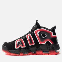Мужские кроссовки Nike Air More Uptempo 96 Black/White/Laser Crimson фото- 1