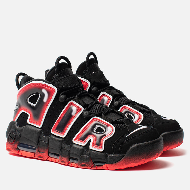 Мужские кроссовки Nike Air More Uptempo 96 Black/White/Laser Crimson