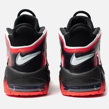Мужские кроссовки Nike Air More Uptempo 96 Black/White/Laser Crimson фото- 3