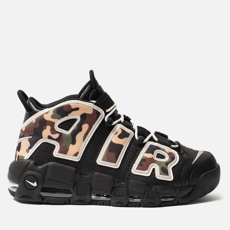 Мужские кроссовки Nike Air More Uptempo '96 QS Black/Sail/Light British Tan/Asparagus
