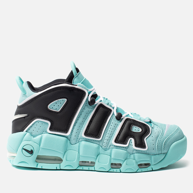 Мужские кроссовки Nike Air More Uptempo 96 QS Light Aqua/Black/White