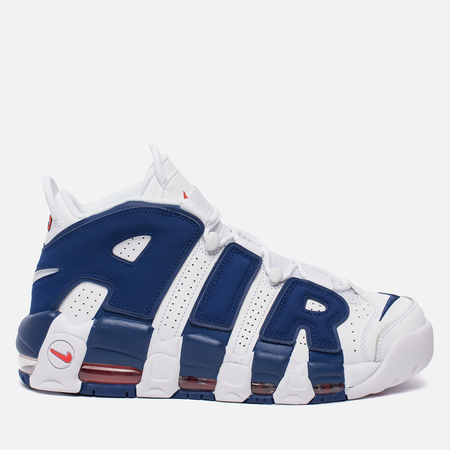 Мужские кроссовки Nike Air More Uptempo '96 White/Deep Royal Blue/Team Orange