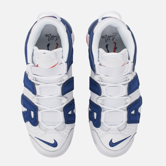 Мужские кроссовки Nike Air More Uptempo '96 White/Deep Royal Blue/Team Orange