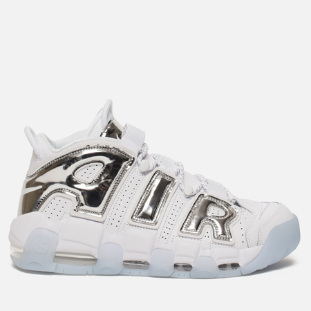 Женские кроссовки Nike Air More Uptempo White/Chrome/Blue Tint