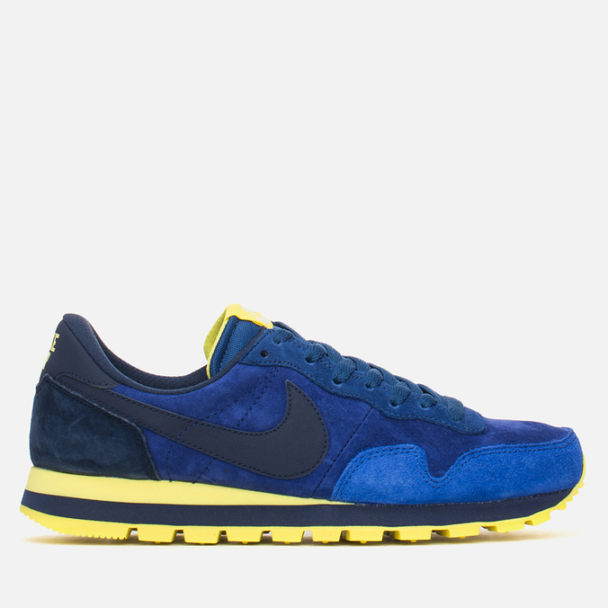 Мужские кроссовки Nike Air Pegasus 83 Leather Midnight Navy/Light Volt Yellow