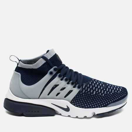Мужские кроссовки Nike Air Presto Flyknit Ultra College Navy/Wolf Grey
