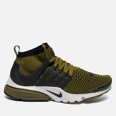 Мужские кроссовки Nike Air Presto Flyknit Ultra Olive Flak/Black/Light Bone