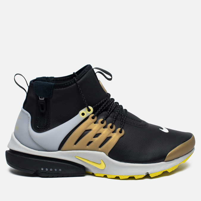 Мужские кроссовки Nike Air Presto Mid Utility Black/Yellow Streak/Metallic Gold