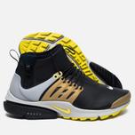 Мужские кроссовки Nike Air Presto Mid Utility Black/Yellow Streak/Metallic Gold фото- 1