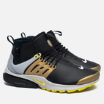 Мужские кроссовки Nike Air Presto Mid Utility Black/Yellow Streak/Metallic Gold фото- 2