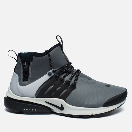 Мужские кроссовки Nike Air Presto Mid Utility Cool Grey/Black/Off White/Volt
