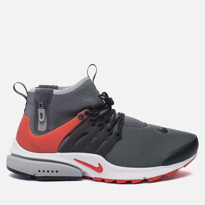 Мужские кроссовки Nike Air Presto Mid Utility Dark Grey/Max Orange/Black/Wolf Grey/White