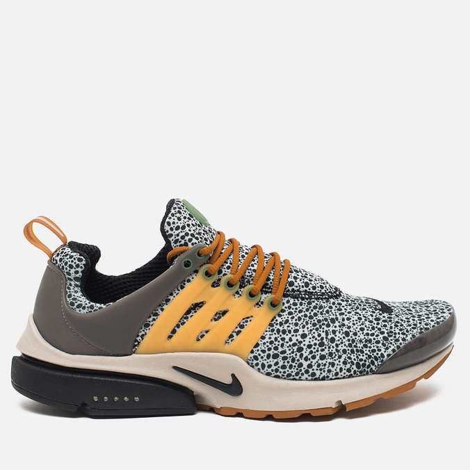 Мужские кроссовки Nike Air Presto SE QS Safari Pack Neutral Grey/Black/Kumquat/String