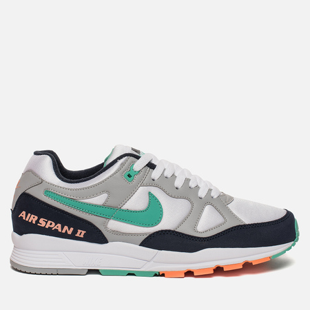 Мужские кроссовки Nike Air Span II Wolf Grey/Kinetic Green/Obsidian