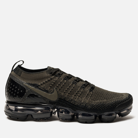 Мужские кроссовки Nike Air Vapormax Flyknit 2 Cargo Khaki/Black/Total Orange