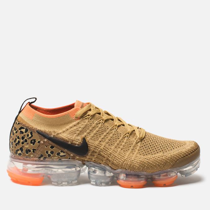 Мужские кроссовки Nike Air Vapormax Flyknit 2 Club Gold/Black/Golden Beige