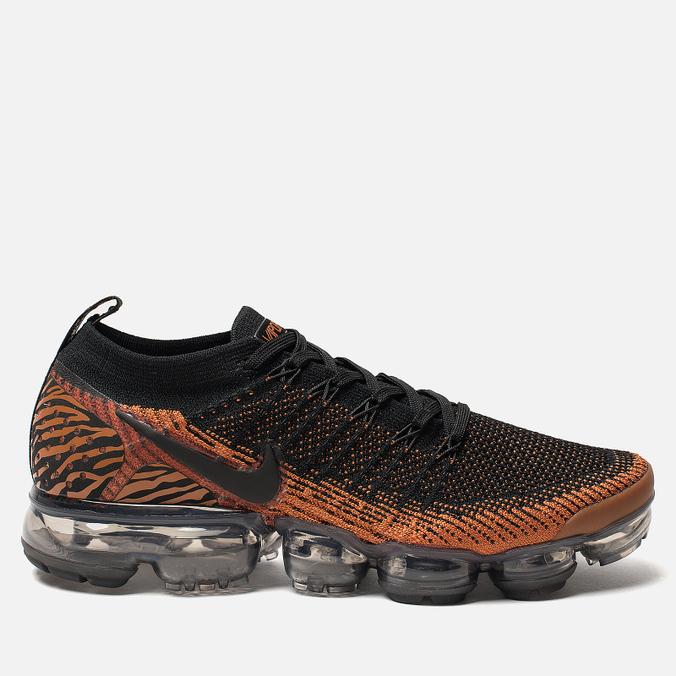 Мужские кроссовки Nike Air Vapormax Flyknit 2 Desert Orange/Black/Total Orange